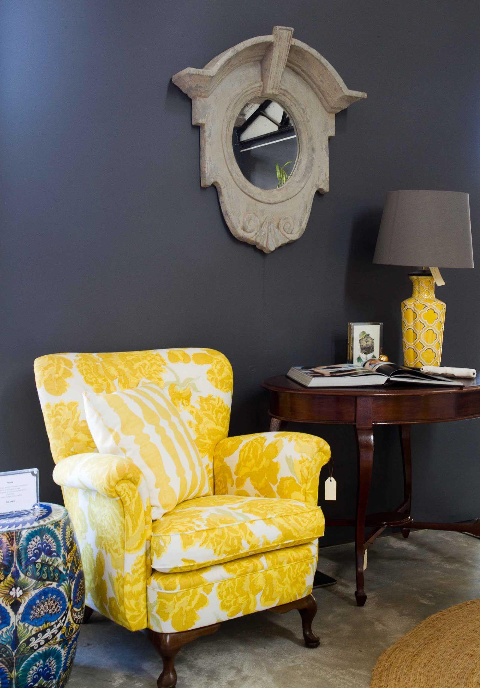 Fab yellow chair.