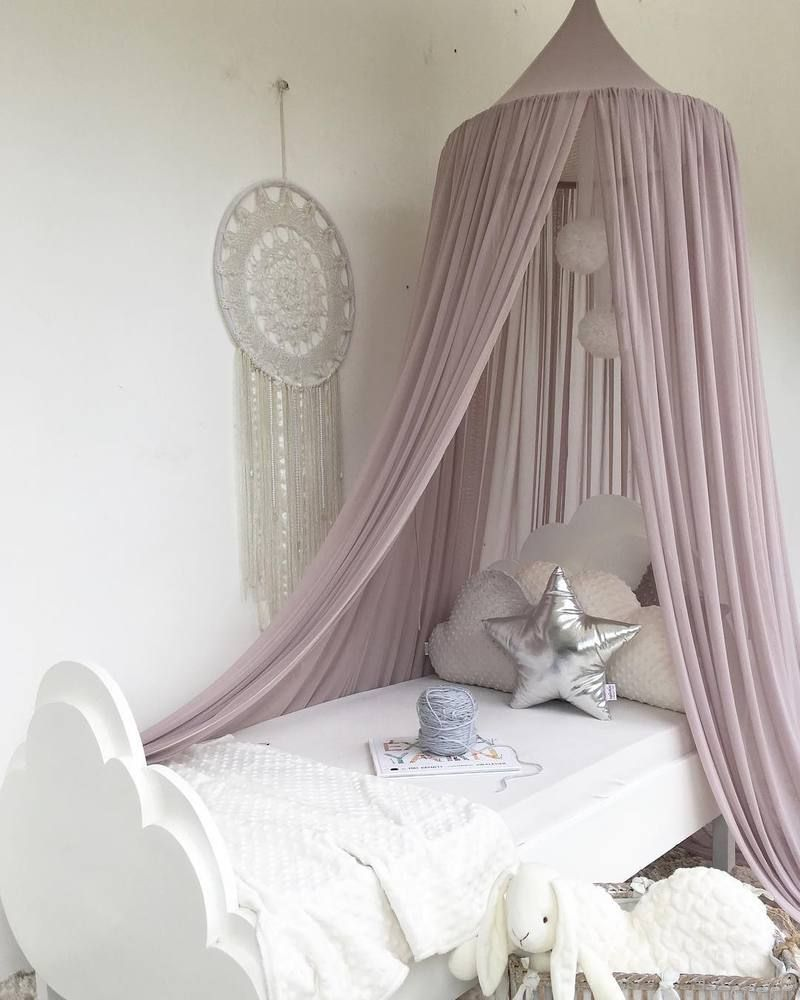 Sheer Canopy Old Rose Kidu0027s bed canopy