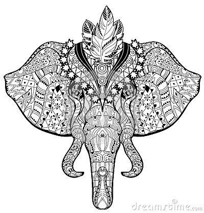 Elephant Doodle Stock Vector