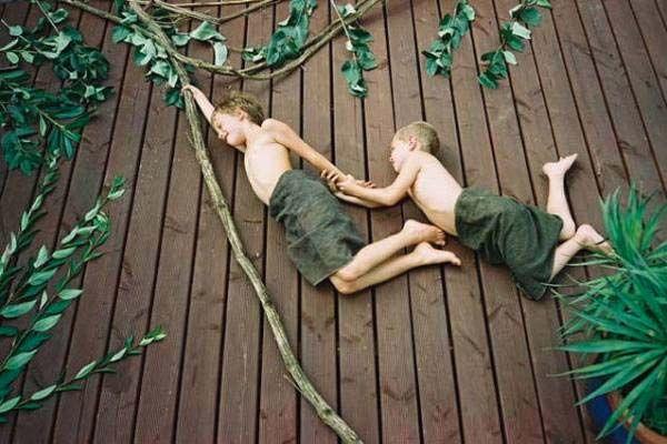 Flying kid photos