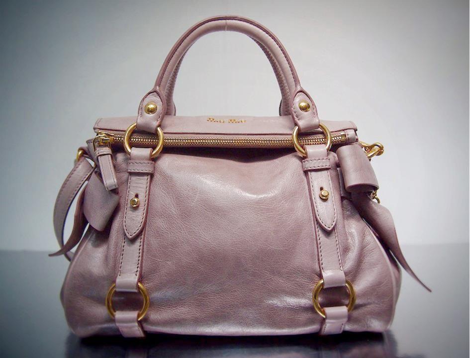 86d22f655fce Miu Miu Pink Distressed Glazed Mini Butterfly Bow Bag