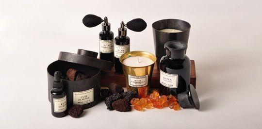 candele,  ambre,  pietra lavica , profumo d'ambiente / available from Nero