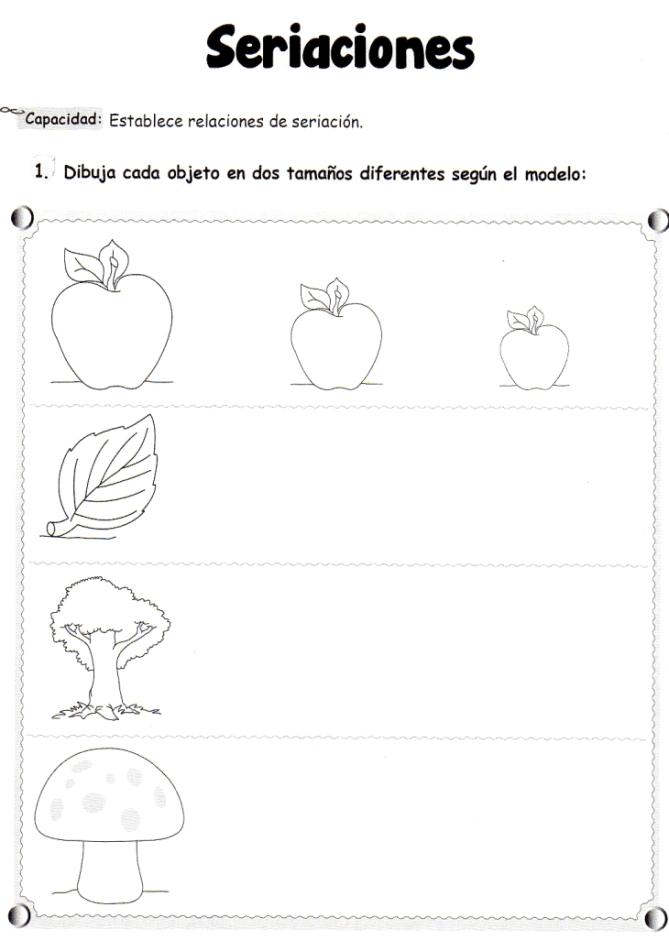 Seriaciones: 5 años - Material de Aprendizaje | aprestamiento ...