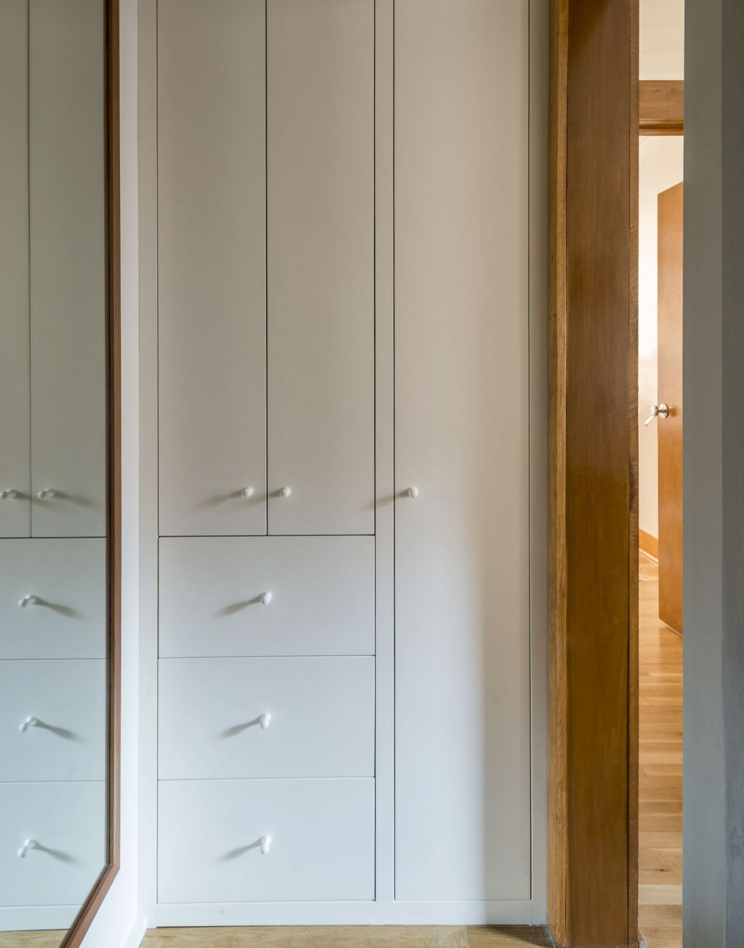 An Anteroom Outside The Bath Is Now A Linen And Utility Closet. The Tall  Cabinet