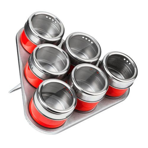 All Home 6 Piece Spice Jar Set With Tray In 2019 Spice