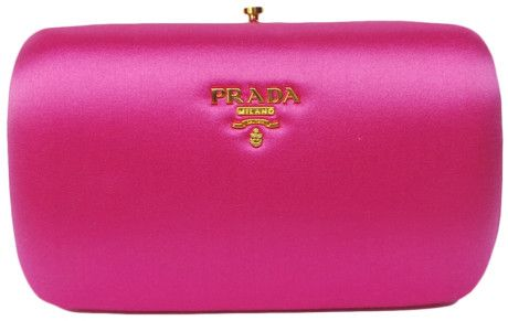c8ef56c11e Prada Fuschia Small Satin Box Clutch in Pink (fuchsia) | Lyst ...