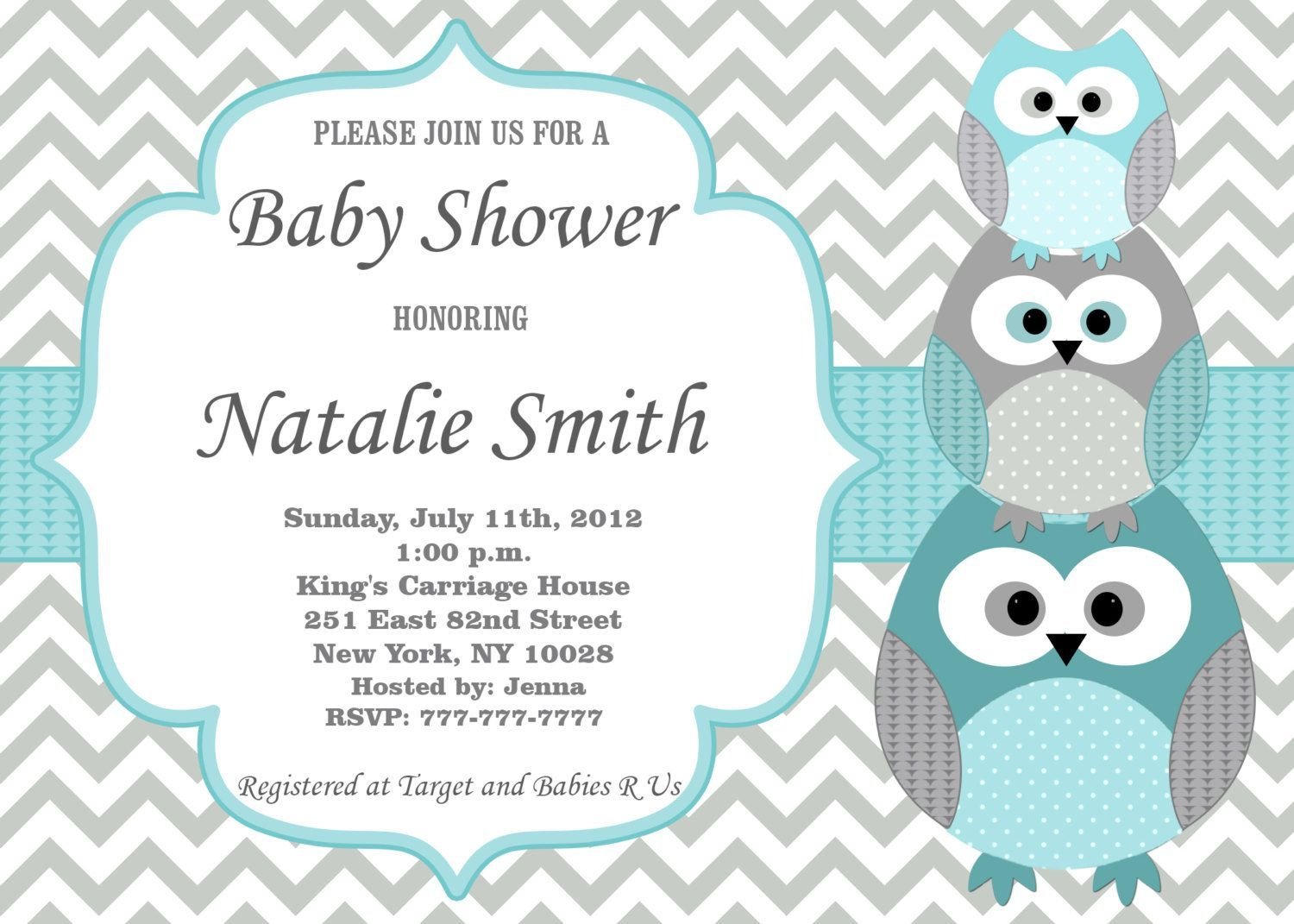 Printed Baby Shower Invitations For Twins