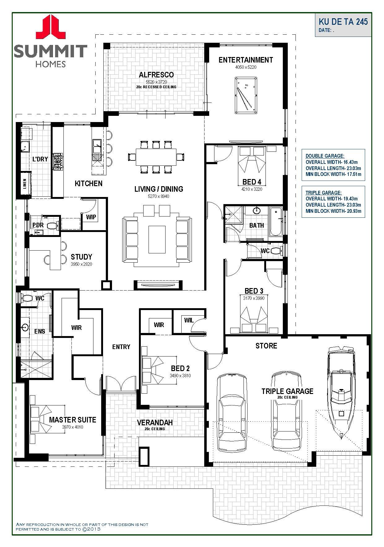 Floor Plan Friday Open Living With Triple Garage House Plans Australia 4 Bedroom House Plans Floor Plan 4 Bedroom