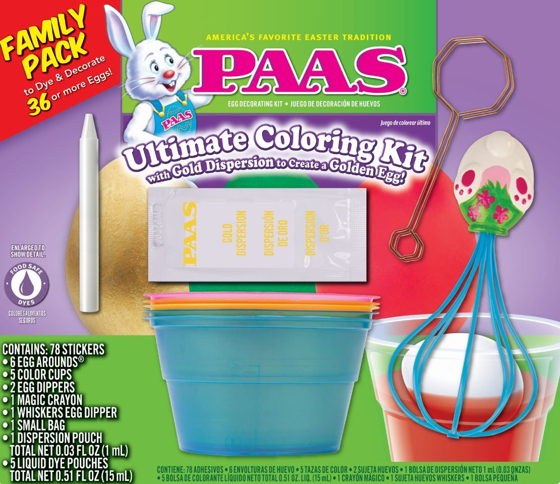 PAAS® Easter Egg Decorating Kit - Ultimate Coloring Kit for ...