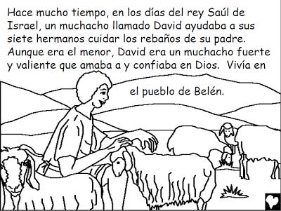 Historias Bíblicas para colorear: David el Pastor ~ Mi vida sin ...