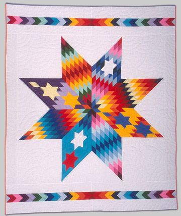 Native American Star Quilts Crazy Star Quilt 1994 95 Nellie Star