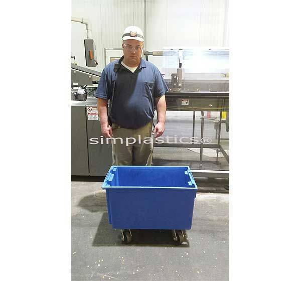 Warehouse Bins On Wheels This Storage Tote Has Optional Lids And Can Stack Or Nest As Long As Only Storage Bins Plastic Storage Bins Stackable Storage Bins