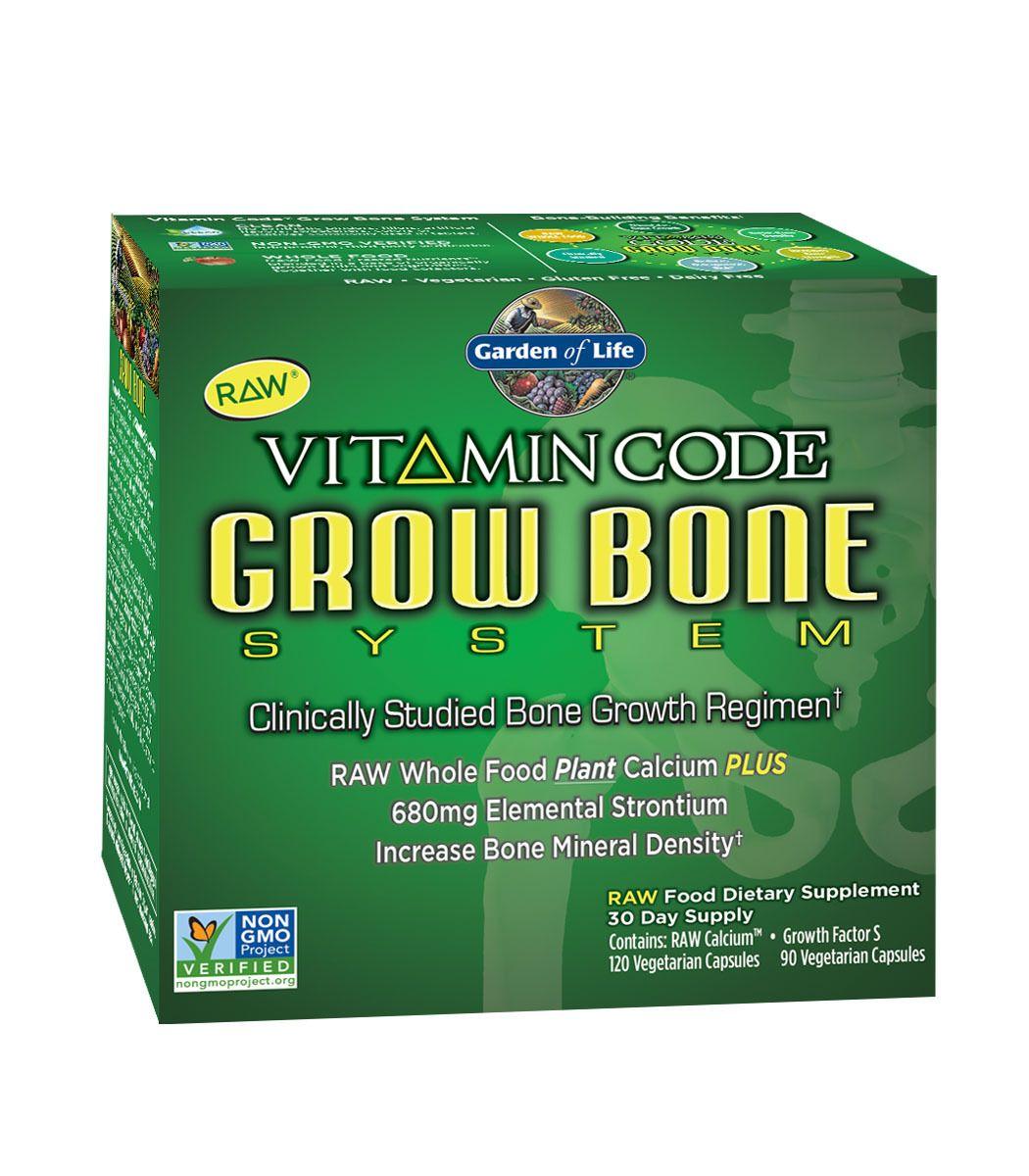 Garden of Life Vitamin Code Grow Bone System, 1 kit