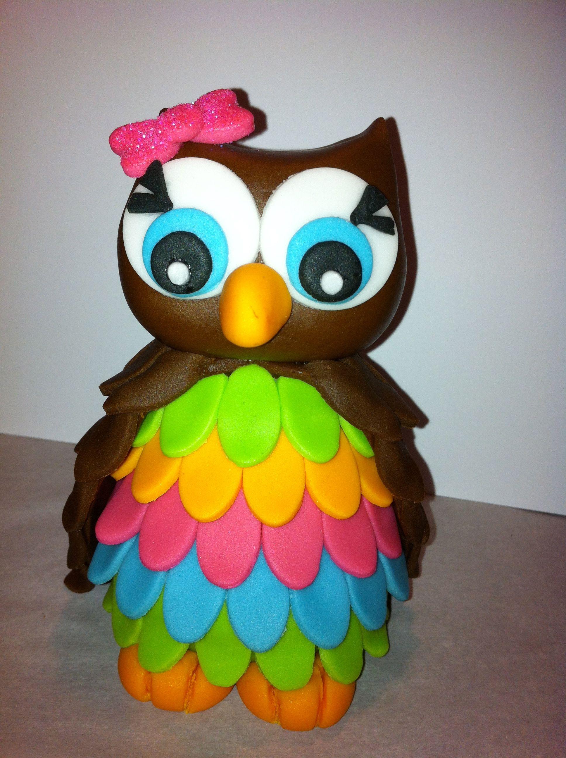 Easy Owl Cake Topper