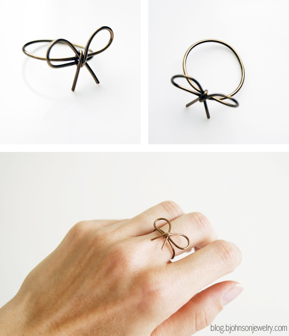 DIY // Wire Wrapped Bow Ring   Wire wrapping, Wraps and Ring
