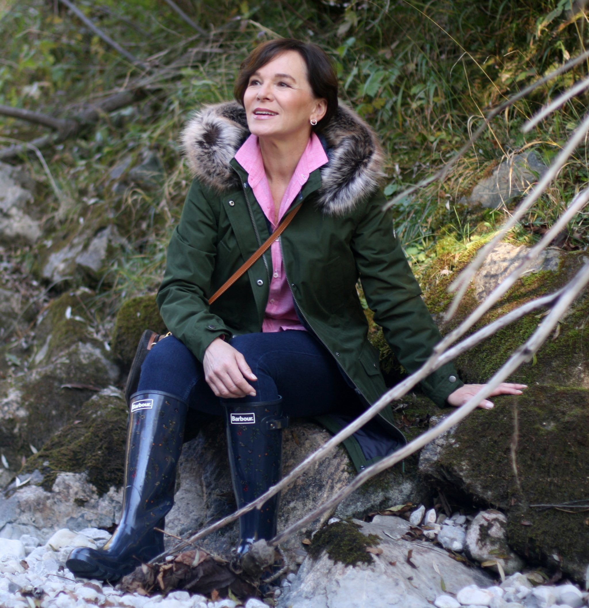 1abc605e British Shop Barbour Outdoors Parka Gummistiefel Herbstmode 50plus Blogger  LadyofStyle