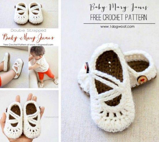 Mary Jane Crochet Booties Video Free Pattern Crochet Shoes Free