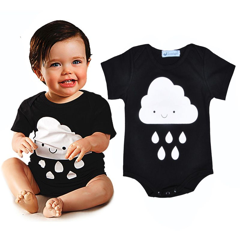 ad860282c4da Fashion Newborn Romper summer infantil Rompers baby Cartoon Raindrop ...