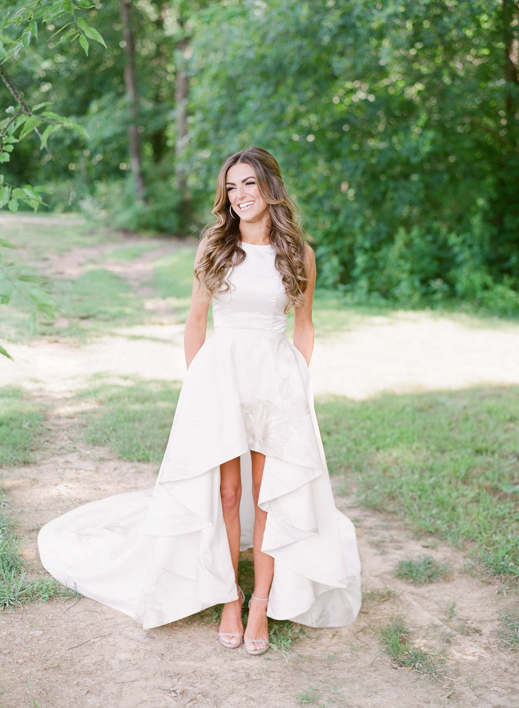 A custom twopiece dress for a glam southern bride for keeps