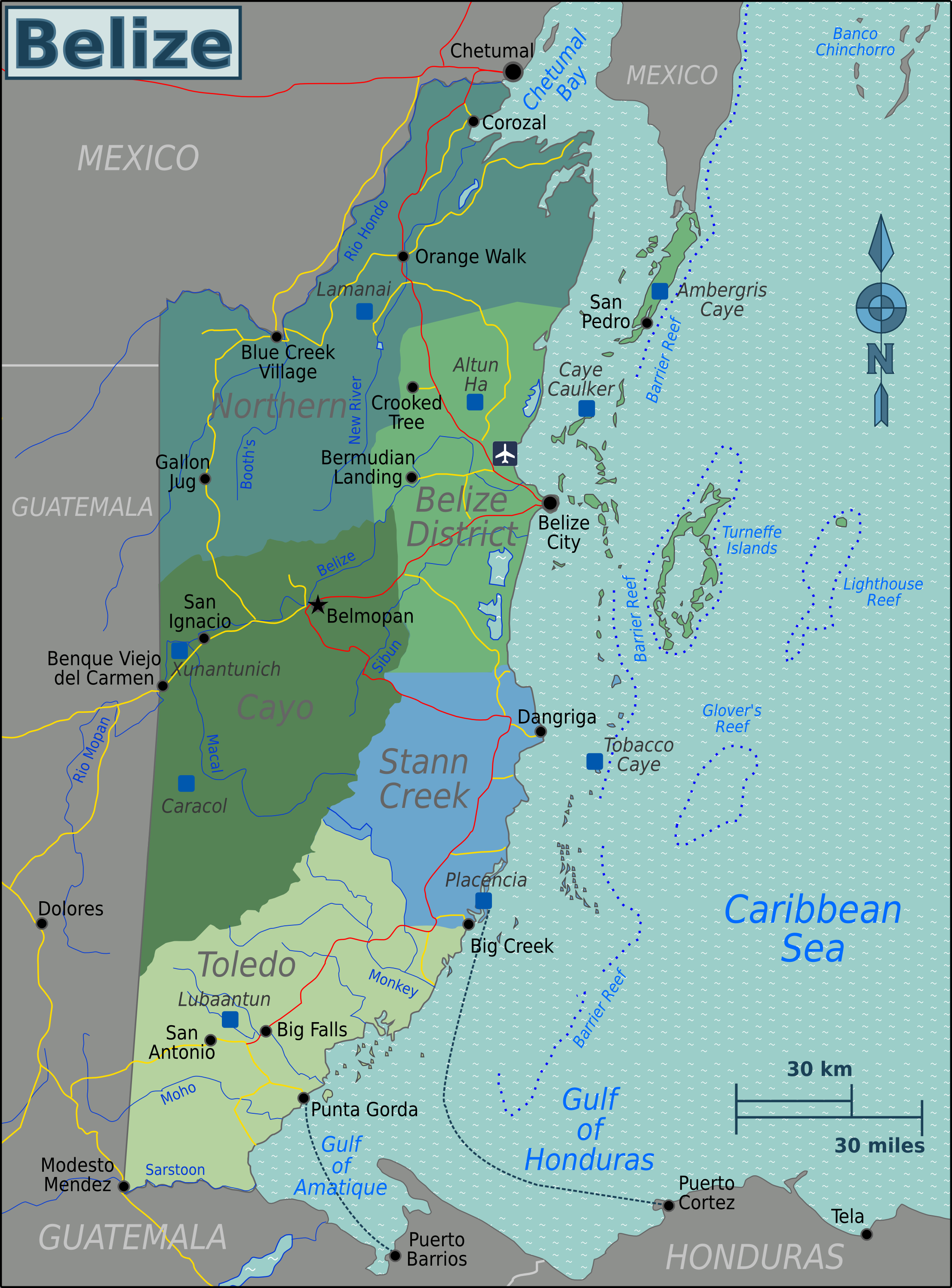 Regional map of Belize | Maps | Pinterest | Belize and Regional
