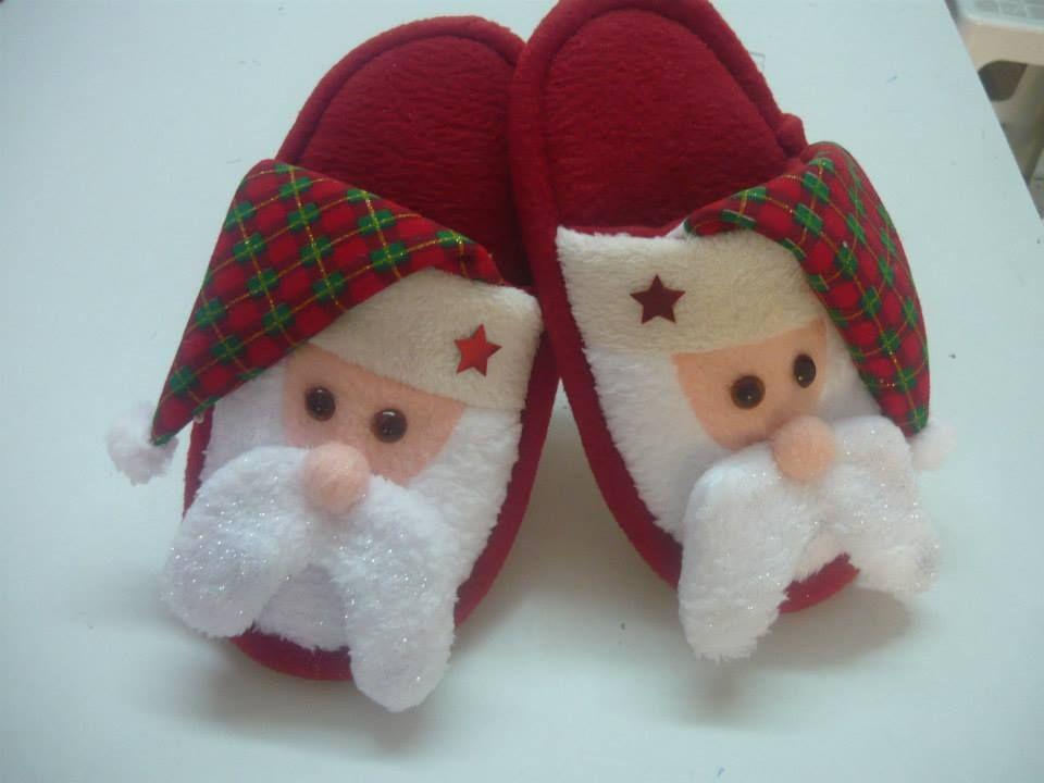 Pantuflas Navidenas Portacubiertos Navidad Fieltro Navidad