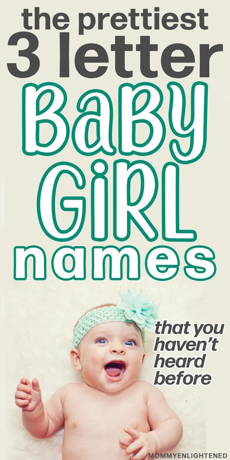 100+ 3 Letter Girl Names (+meanings and origins) in 2020
