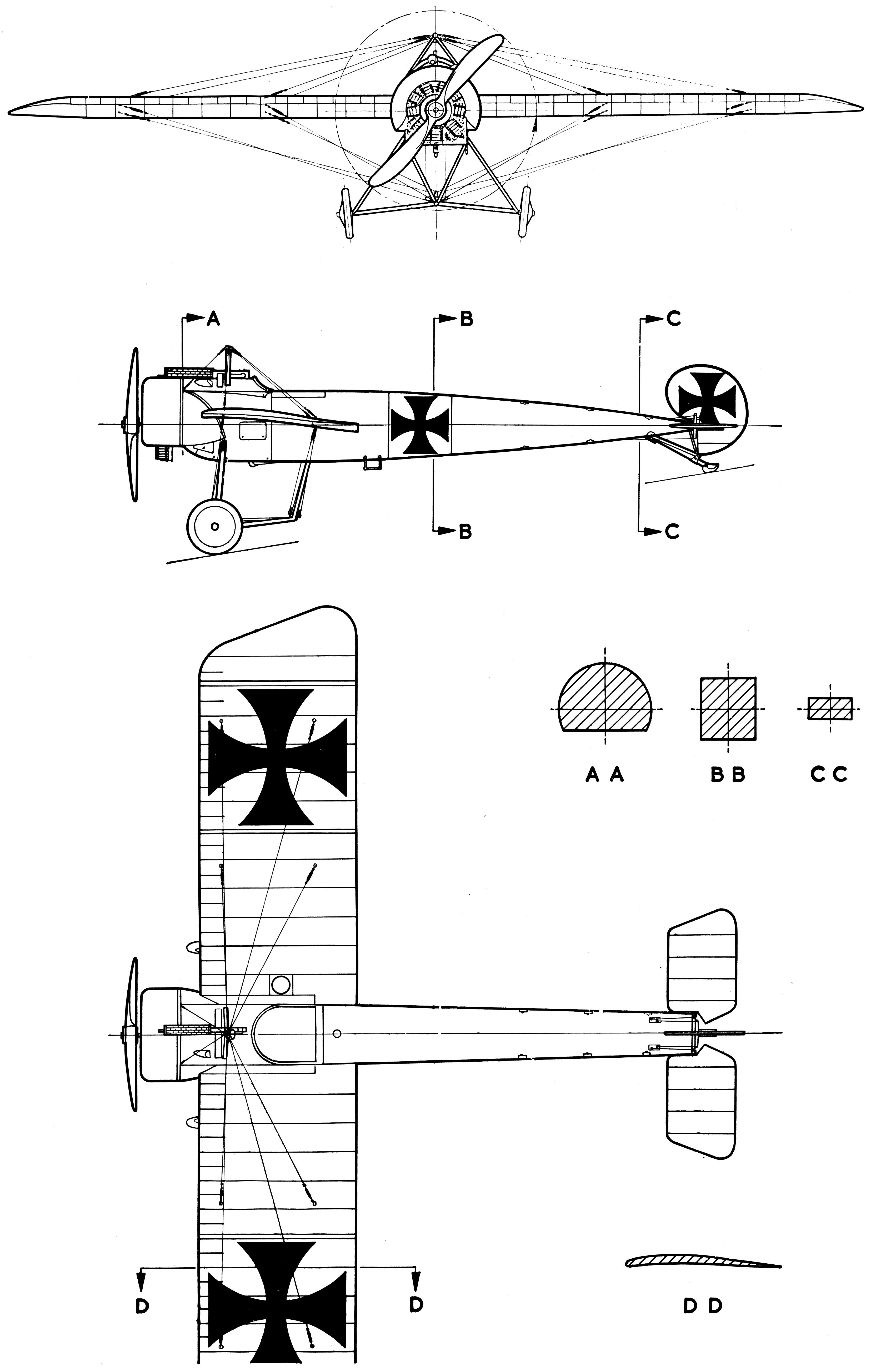 Fokker E III blueprint | Blueprints | Aircraft, Model
