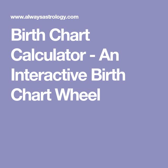 Birth Chart Calculator - An Interactive Birth Chart Wheel | pauls