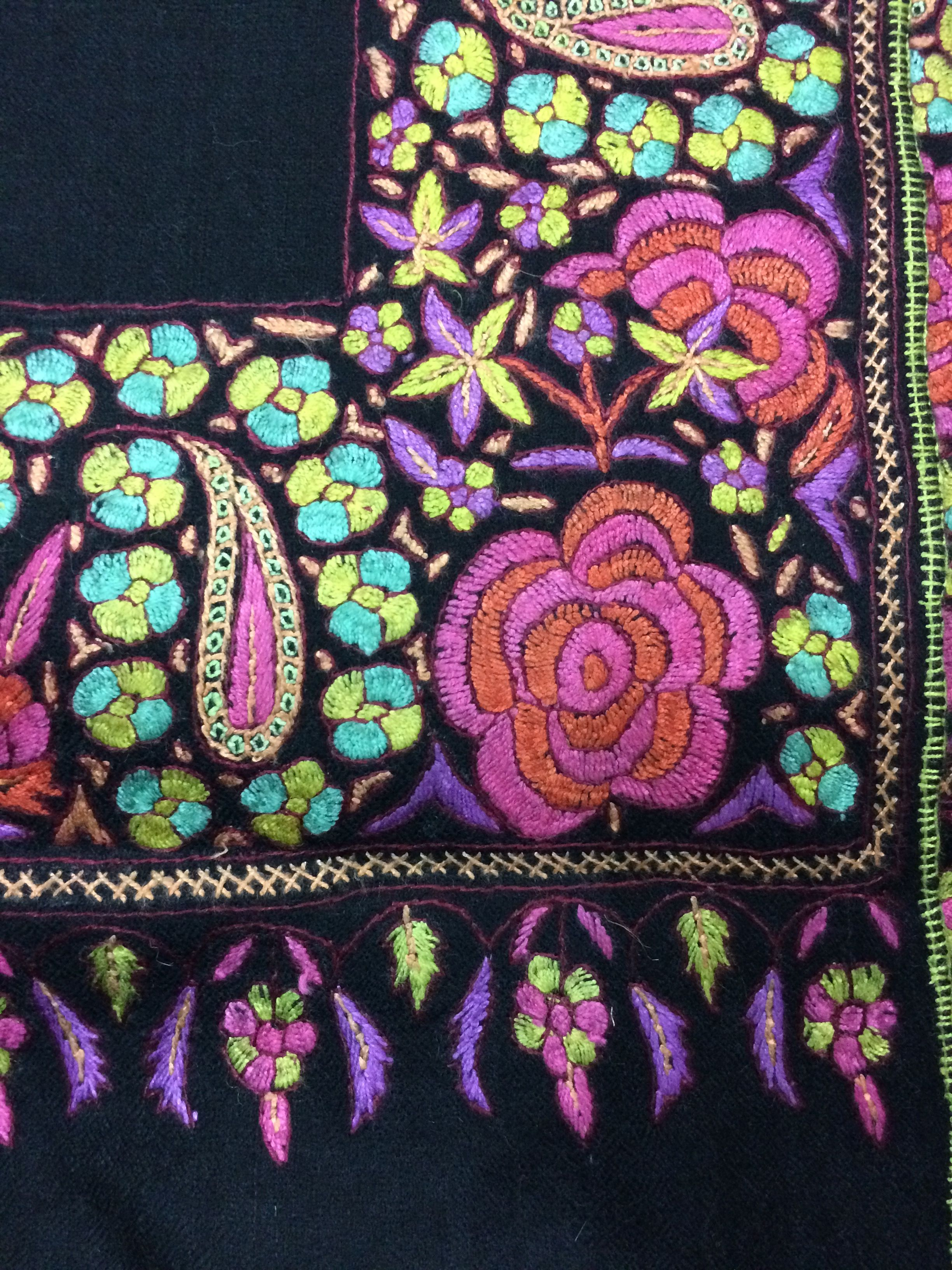 Hand embroidered pashmina from Nepal