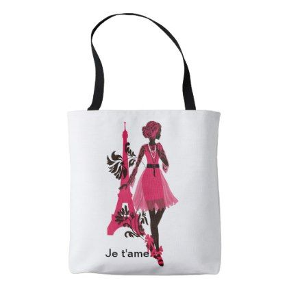 Fashion modern stylish trendy illustration tote bag - minimal gifts style template diy unique personalize design