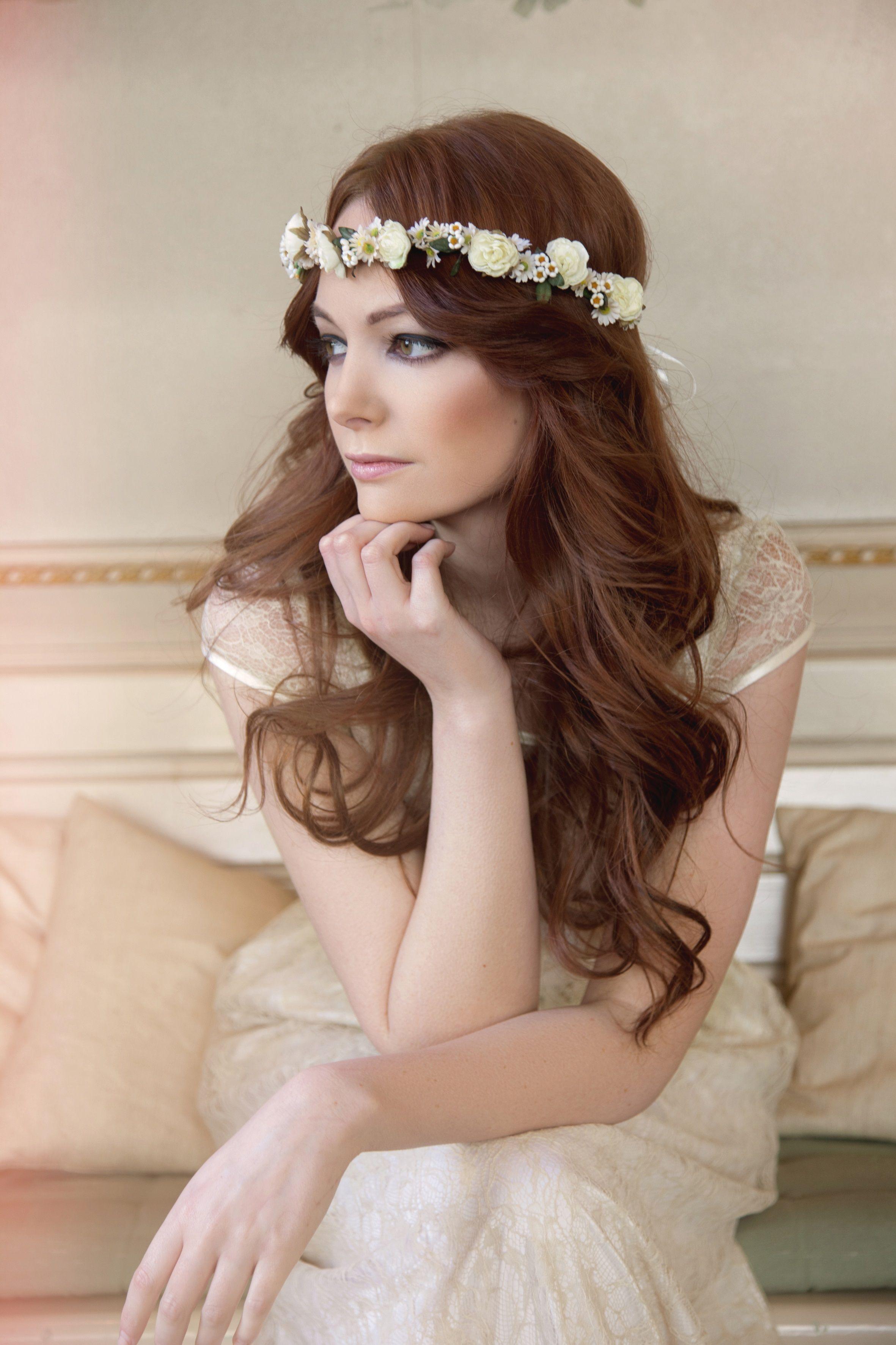 Labude - Blumenkranz Flower Crown Haarschmuck Braut ...