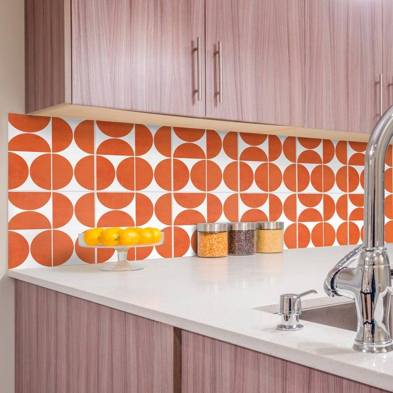 29 Kitchen Backsplash Tile Stickers Ideas Tile Decals Backsplash Black Backsplash