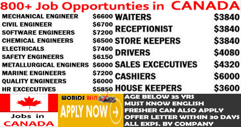 Urgent Vacancies In Multi Companies Canada Company Job Job 1