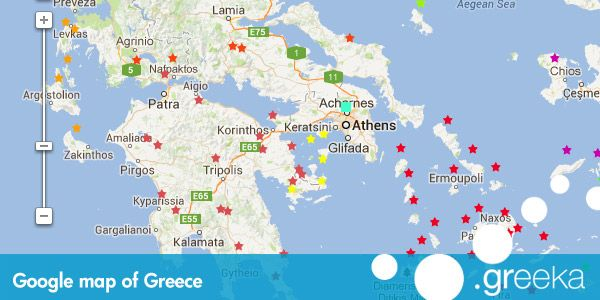 View the Google map of the village of Town in Corfu island