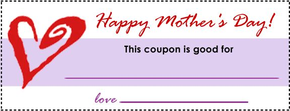 MotherS Day Coupons  Parenting     Coupons