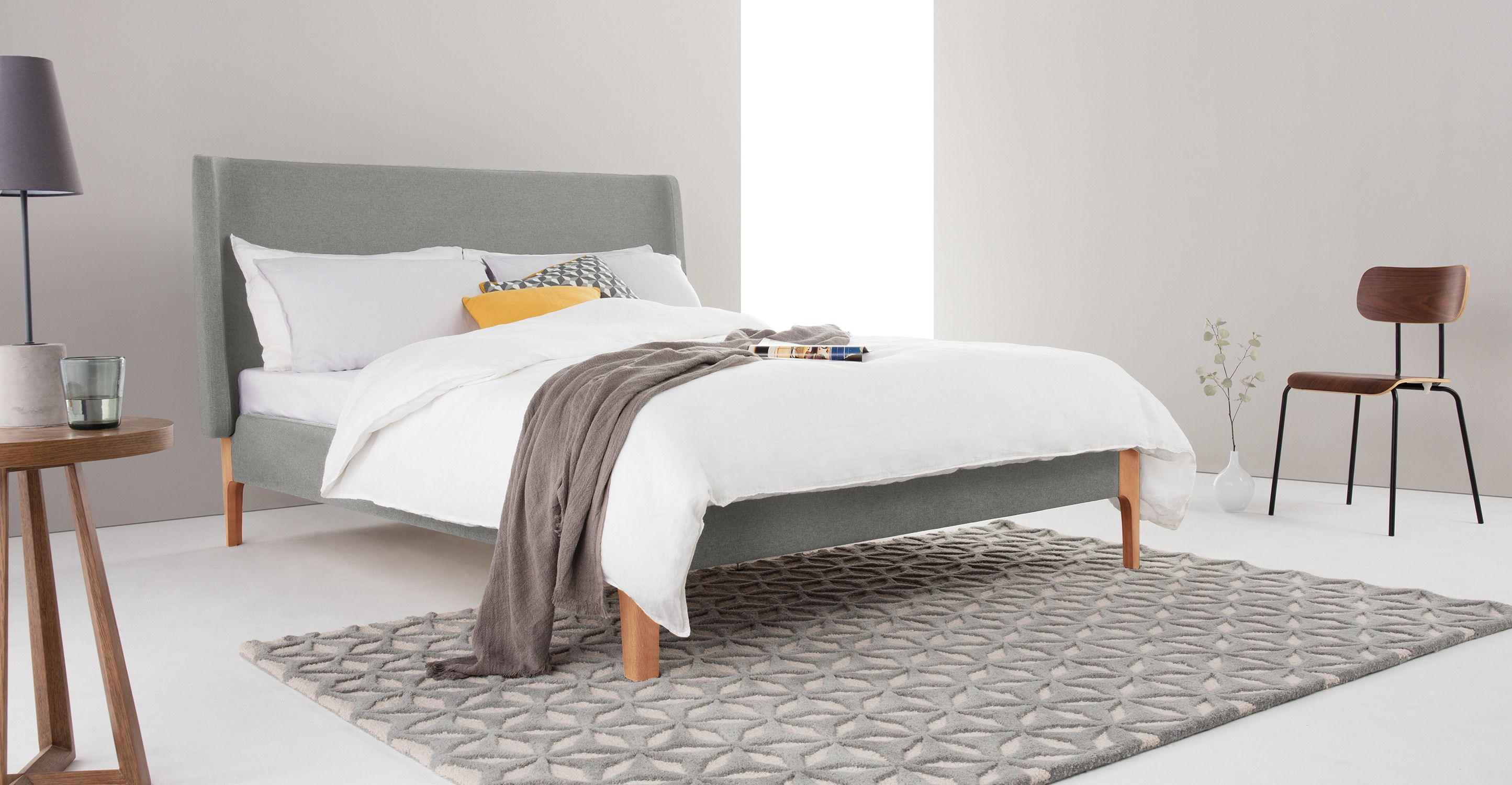 Roscoe Double Bed, Cool Grey | made.com