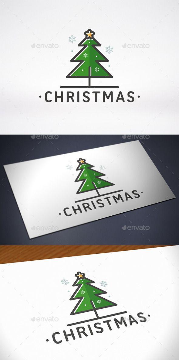 25 Fantastic Christmas Logos For Inspiration Logo Design Tutorial Identity Design Logo Tree Logo Design