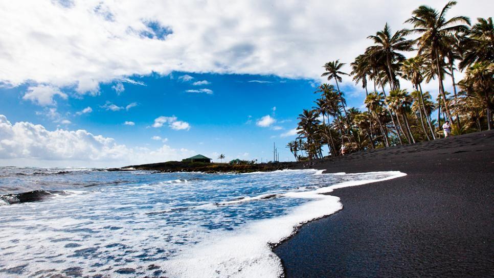 Punaluu Beach Black Sand Island Hawaii
