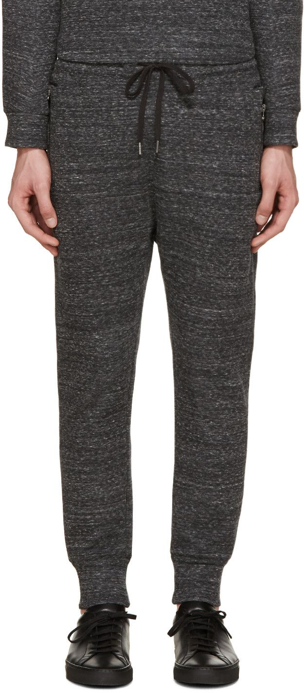 HELMUT LANG Grey Melange Lounge Pants. #helmutlang #cloth #pants