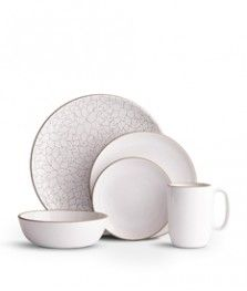 Camellia Opaque White Place Setting