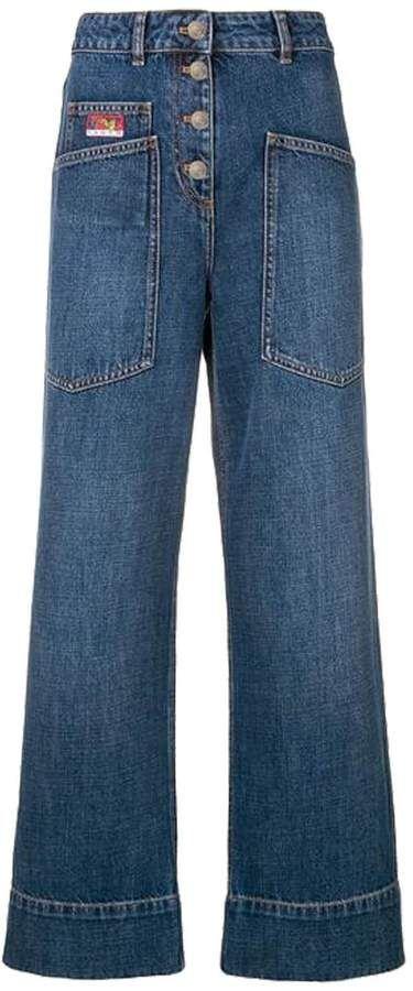 ee332480 Kenzo Wide Leg Trousers | Products | Wide leg jeans, Wide leg ...