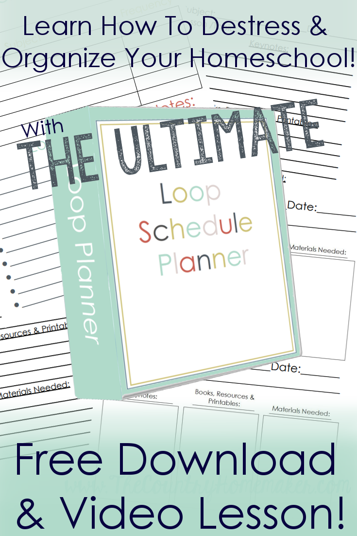 photograph regarding Loop Schedule Printable named loop timetable planner homeschool Homeschool, Plan