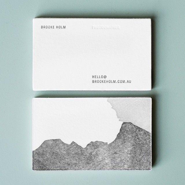 brooke holm business cards - designed by @marcushollands + @Jasmine Hurst, letterpressed by @Saint Gertrude High School:
