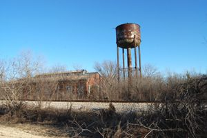 Abandoned factory between Kellyville and Bristow, Oklahoma
