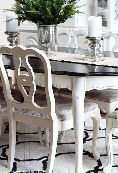 Round Table With Benches  For The Home  Pinterest Unique Painted Dining Room Table Ideas Inspiration
