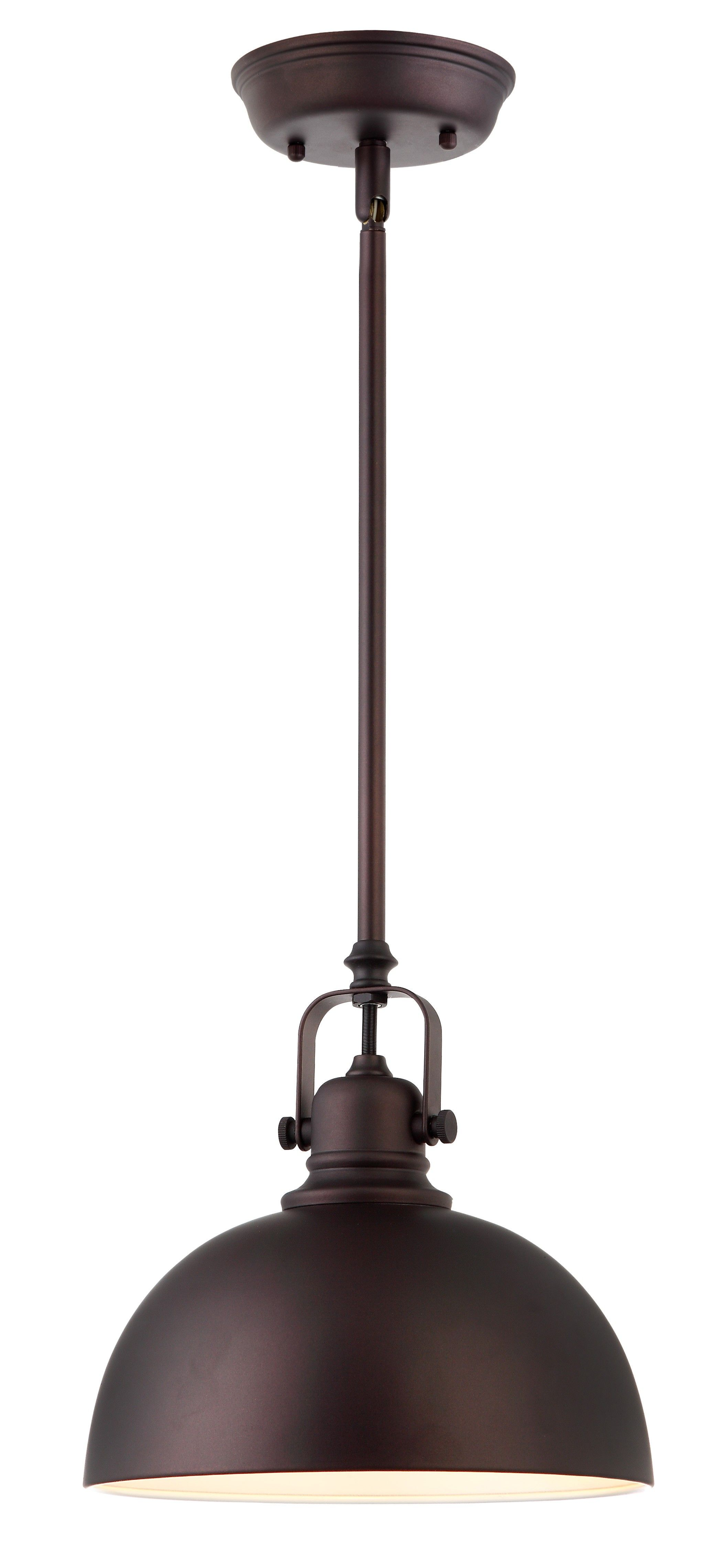 Canarm Ipl222b01orb Polo 1 Light Mini Pendant With Oil Rubbed Bronze Metal Shade