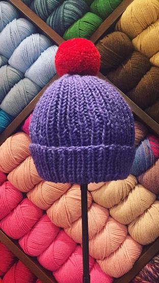 PATRON - GORRO MERINO TOP - Estambres Crochet | Knitting | Pinterest ...