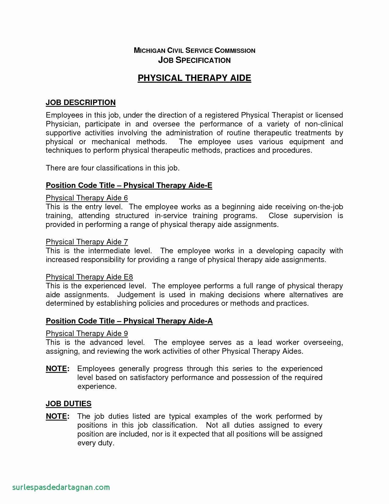 Physical therapist assistant Resume Best Of Physical