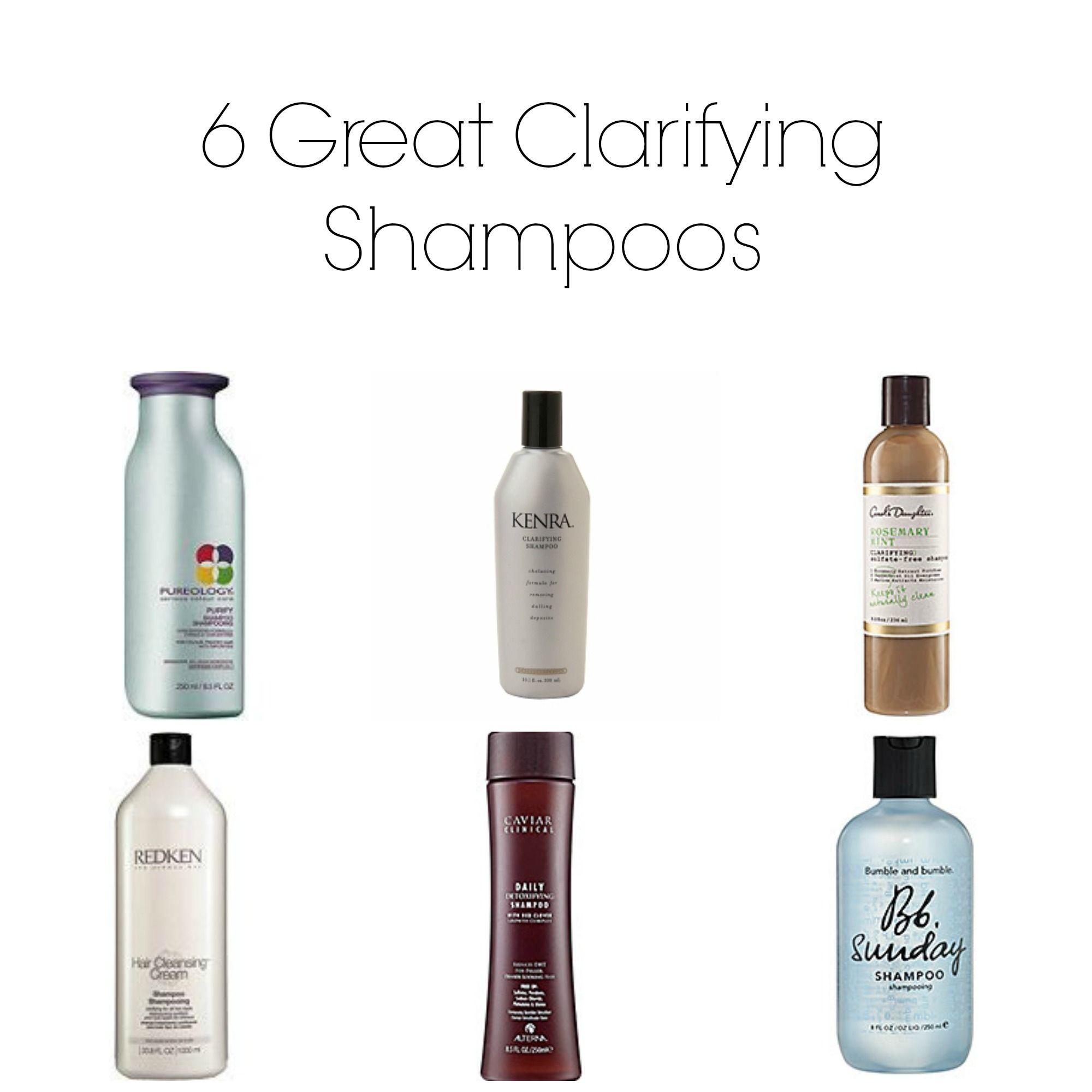 6 Great Clarifying Shampoos | She's a curly girl | Shampoo