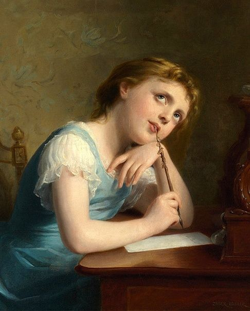 Fritz Zuber-Buhler (Swiss, 1822-1896). Distant Thoughts.